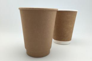 แก้วกระดาษ Double Wall Kraft Paper cup